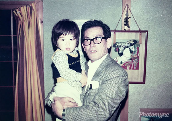 With grandpa. Japan 1976