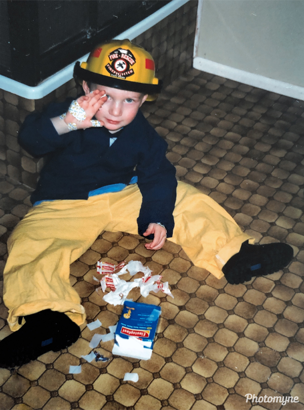 My almost-3-year-old. He is now turning 21. Australia 2003