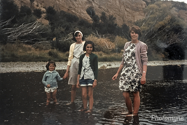 Paddling in the River. New Zealand 1965