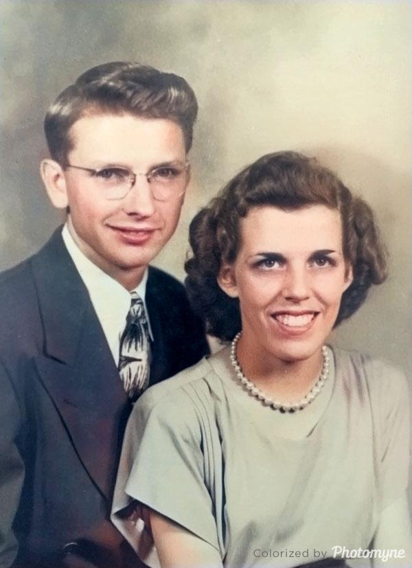 Damon and Grovene Griswold - Wedding Photo. USA 1946
