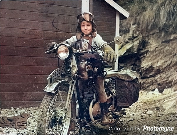 Motorcycling. Norway 1953