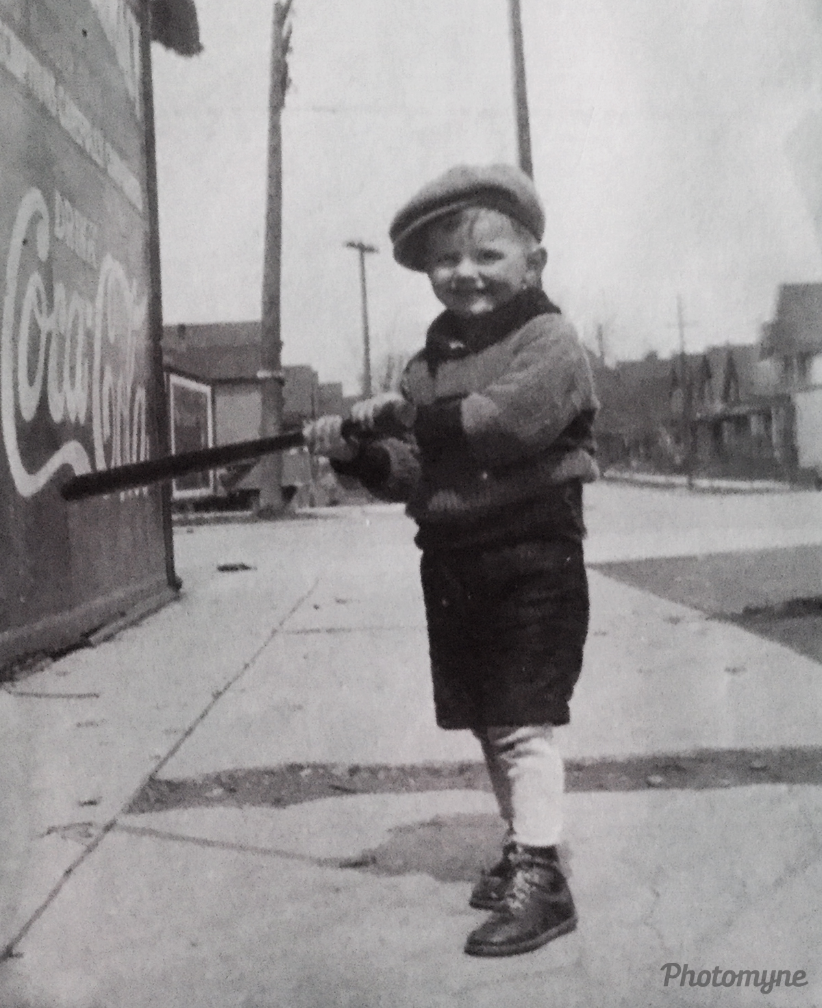My father outside the family owned drug store. Wisconsin, USA 1928
