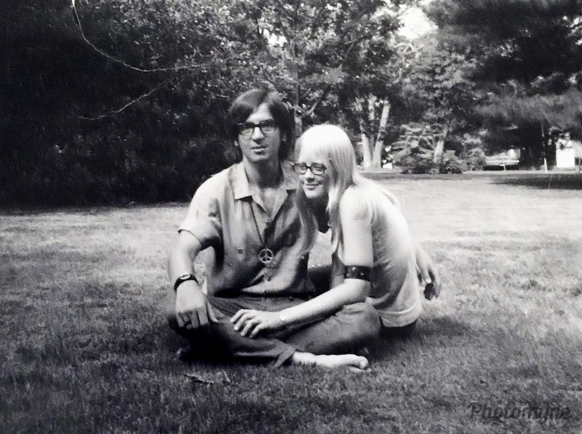 Jane with her high school boyfriend. Pennsylvania, USA 1968