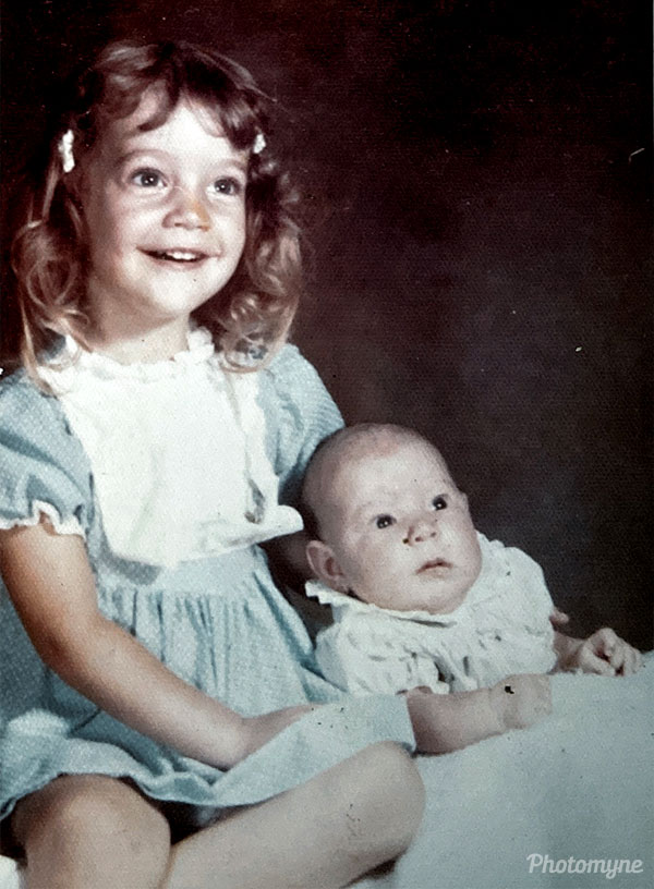Sisters first Portrait. TX, USA 1974