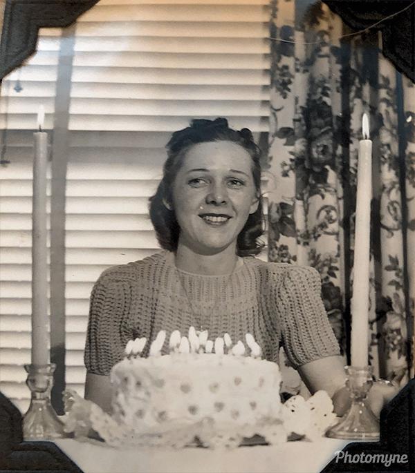Dorothy Barbara (Dot) Tousgaard on her 24th birthday