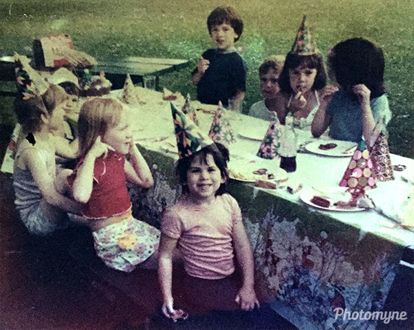 Birthday parties in lower Merion were always at the playground. USA 1975