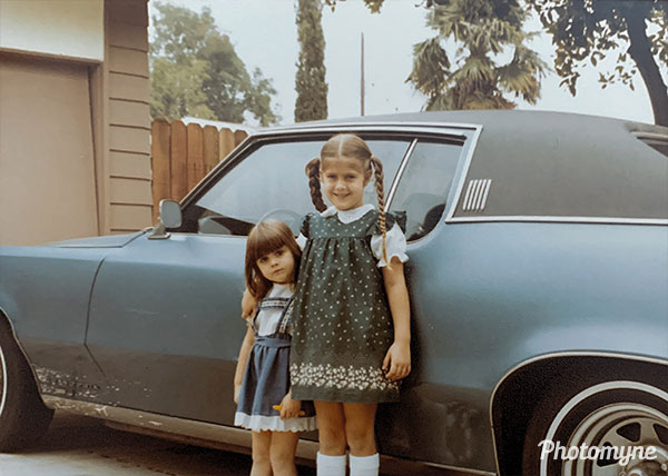 Jennifers first day of kindergarten. USA 1983