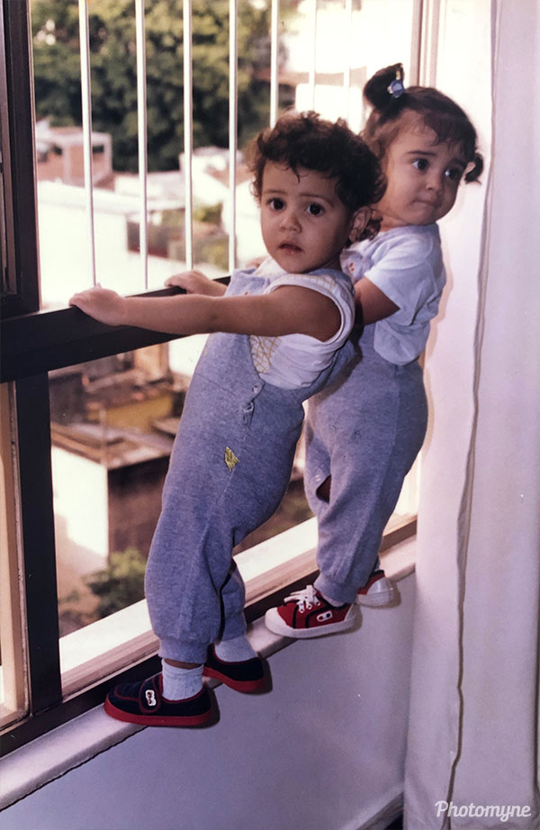 Climbing the window. Brazil 1986