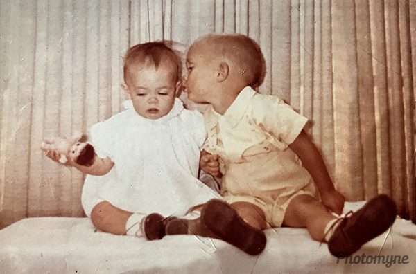 My brother Scott and I as young children. Canada 1960