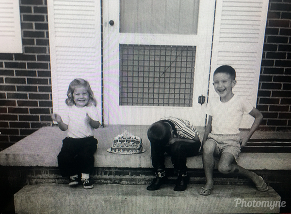 One of us was always crying on a birthday. North Carolina, USA 1962