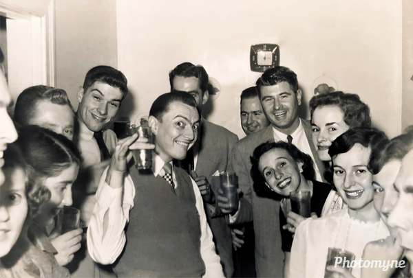 Homecoming with Sis Fox and Jane Bacon on the right. USA 1953