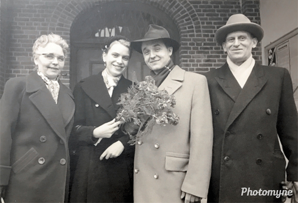 Helen, Margot, Wolfgang, and Walter Klee Belin. Canada 1957