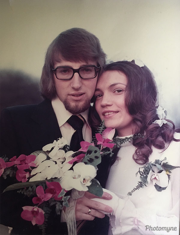 Trouwen 29-12-1972 (Marriage on Dec 29, 1972). The Netherlands 1972