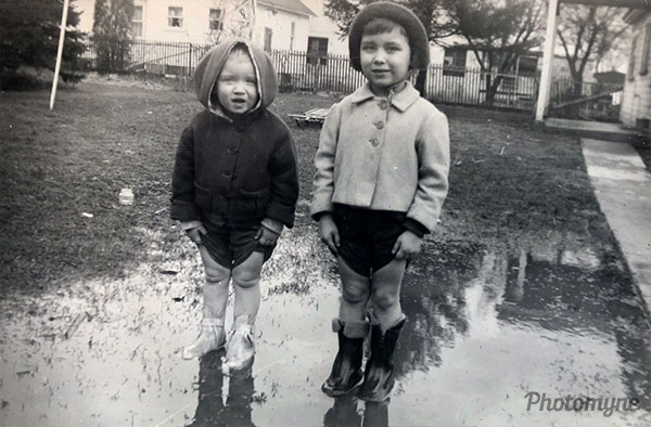 My sister and me... Puddle jumpers. USA 1953