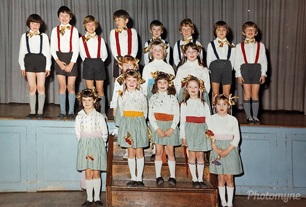 Woodlands first-year country dance team. UK 1973