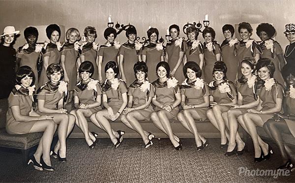 My stewardess class. USA 1970