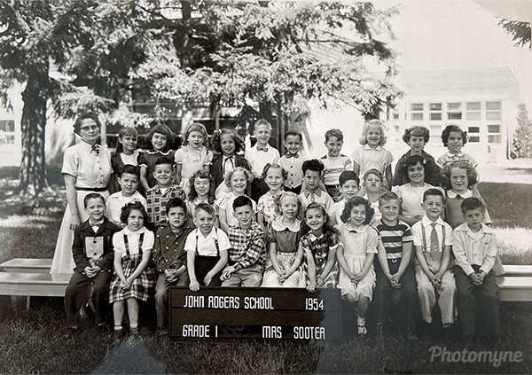 1st Grade at John Rogers Elementary School. USA 1953
