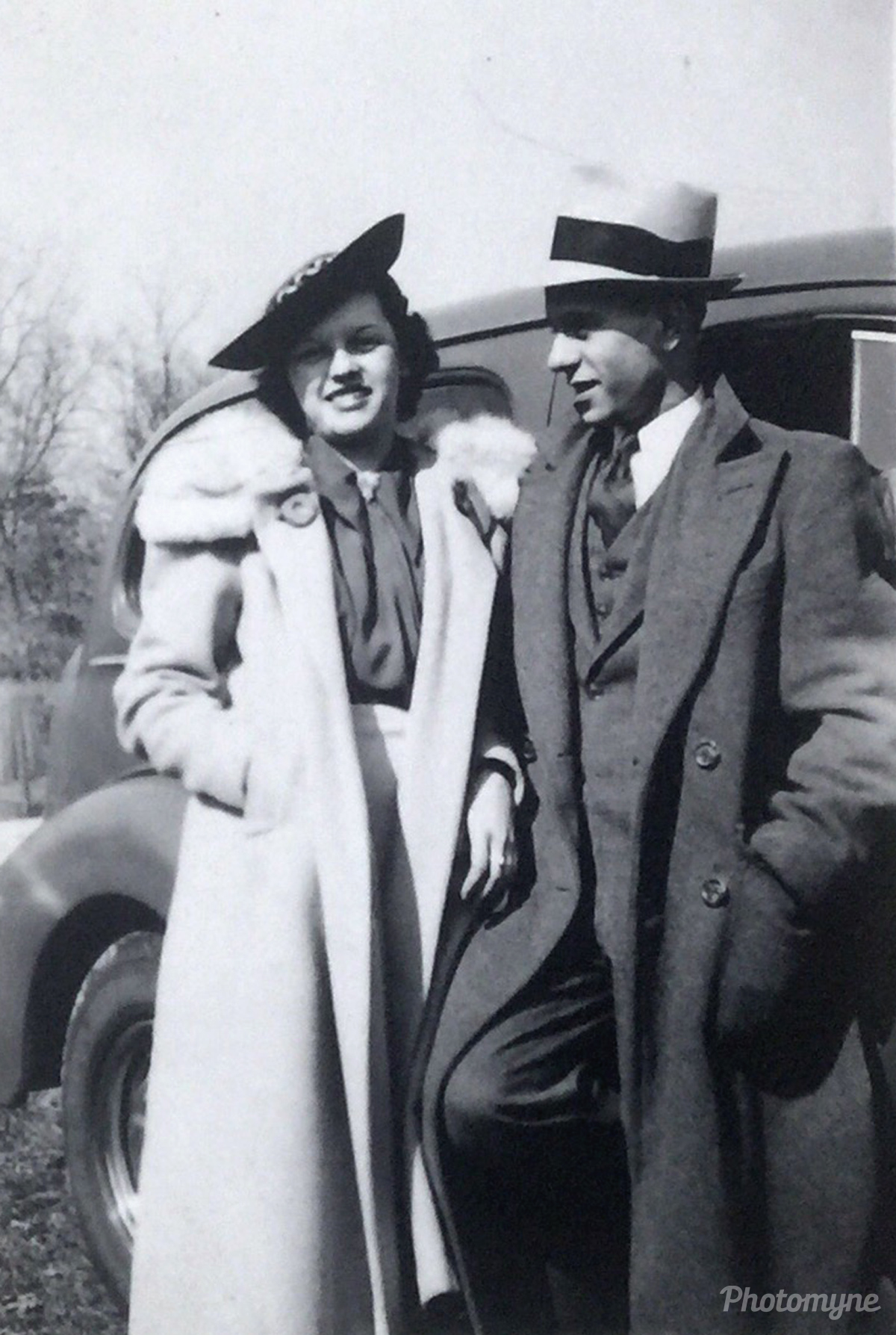 Courting. Indiana, USA 1937