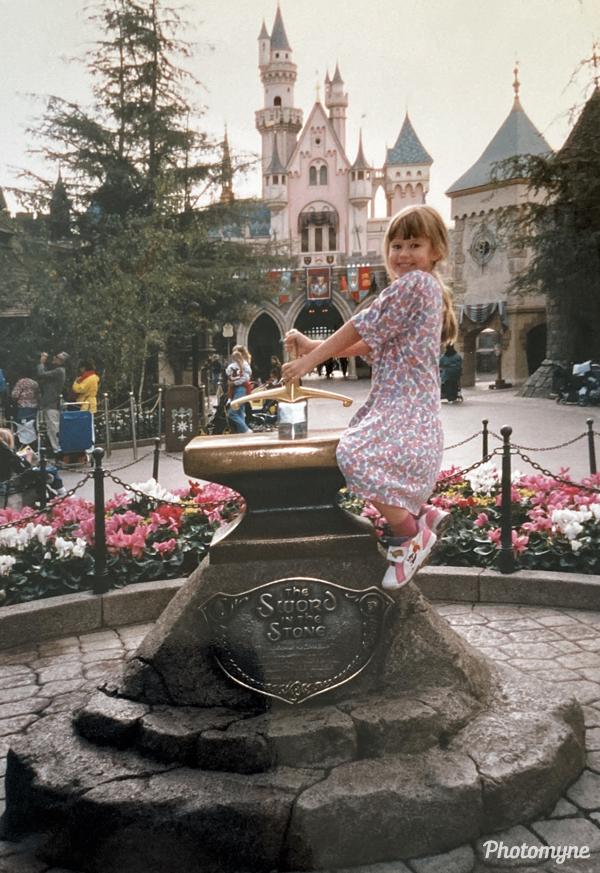 Rachel at Disneyland. USA 1998