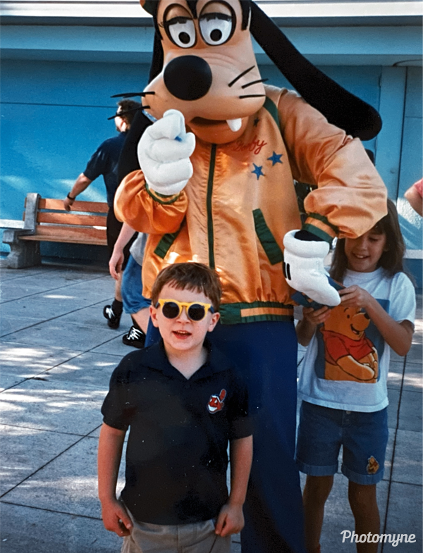 Disney World with Goofy. USA 1997