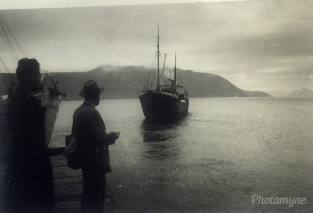 Waiting for the boat, West Coast Norway, 1954