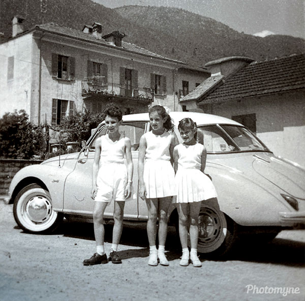 Bereit für das Turnfest in Mendrisio (Ready for the gymnastics festival in Mendrisio). Switzerland, 1957