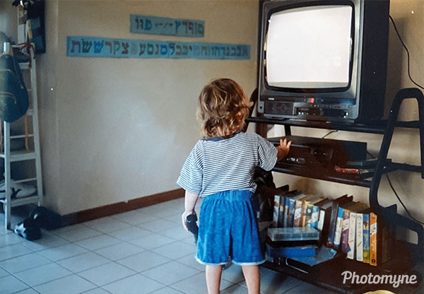 Seconds before I'm about to get a haircut. Israel 2005