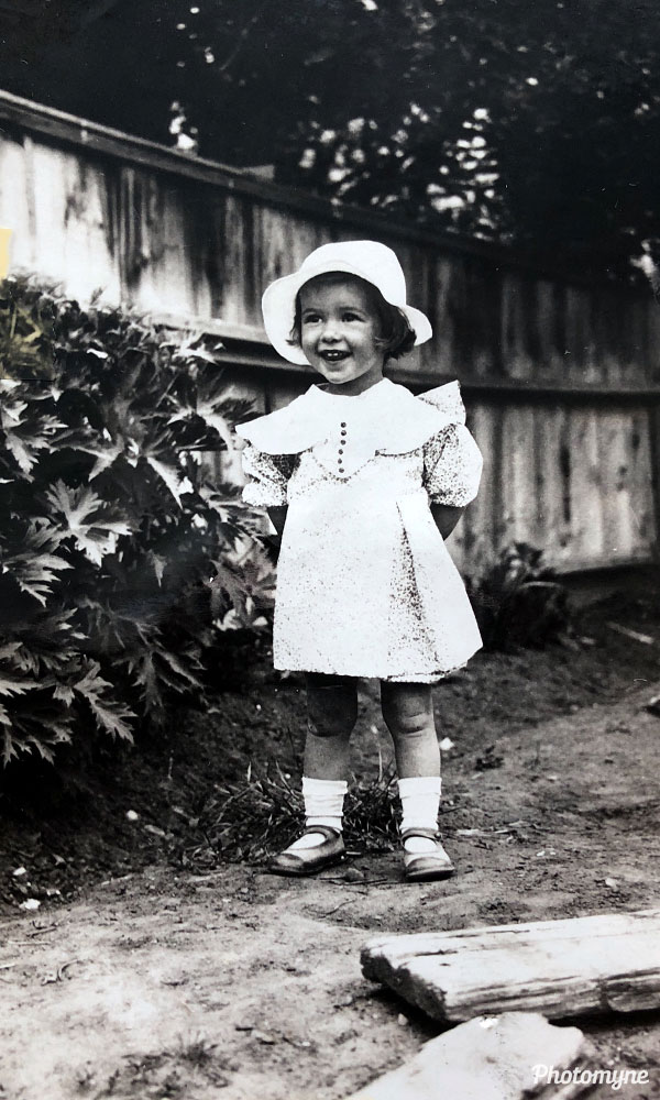 Patricia, 3 years old. Canada 1936