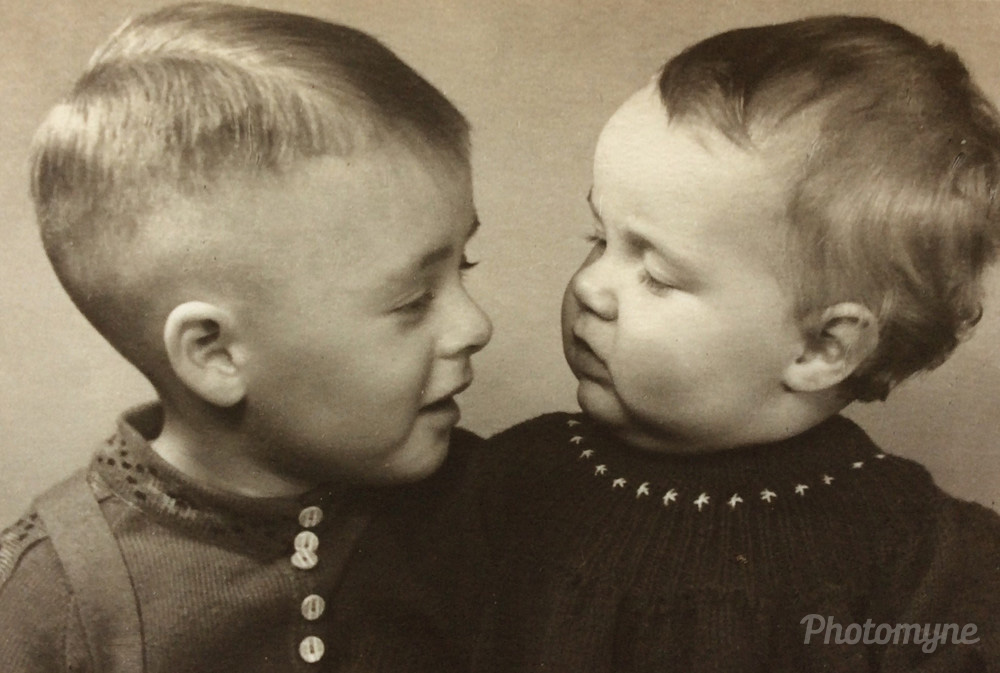 NOVEMBER - MY BROTHER AND ME - Oldenburg, Germany, 1939