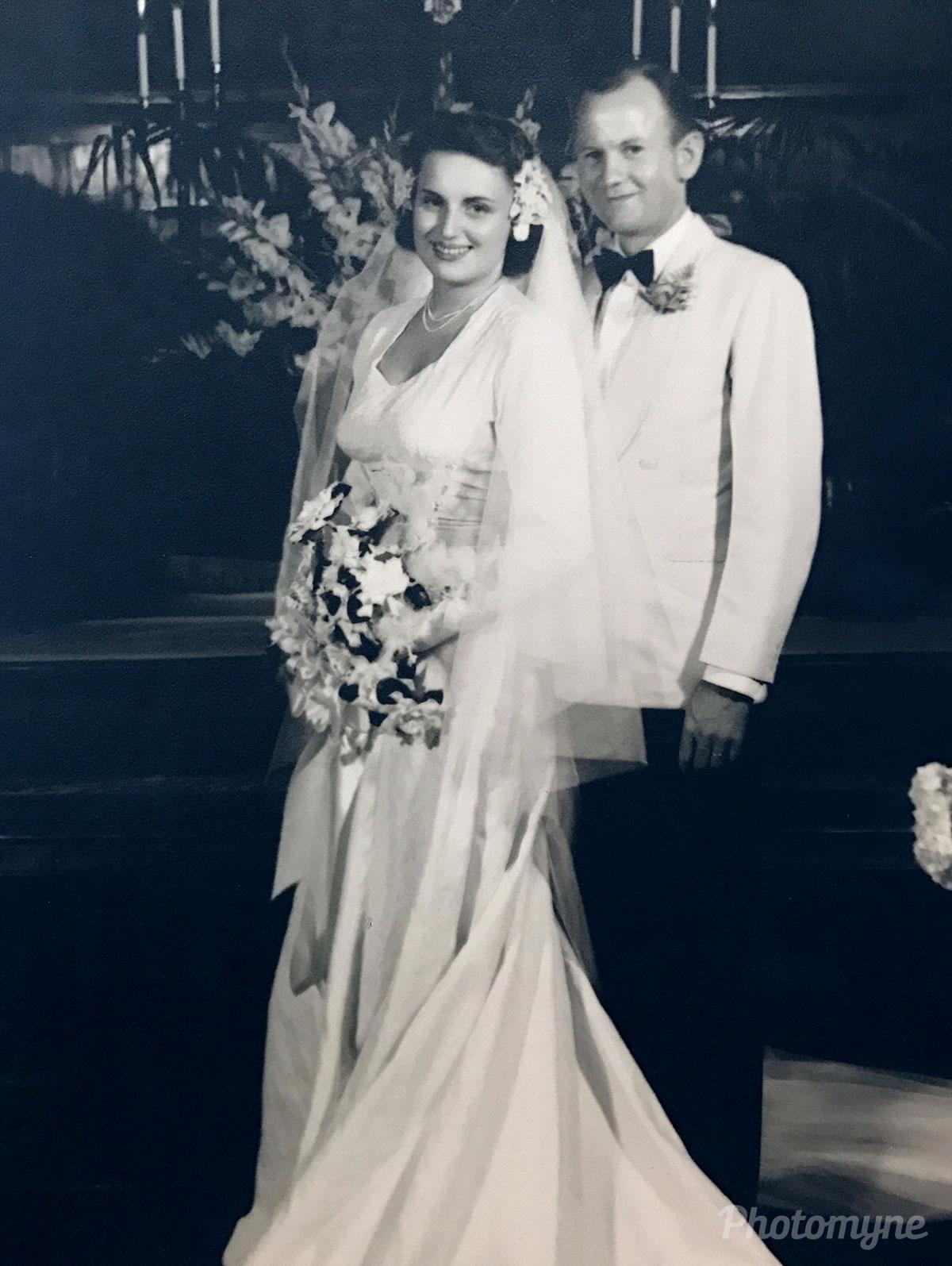 My folks on their wedding day, US, 1946
