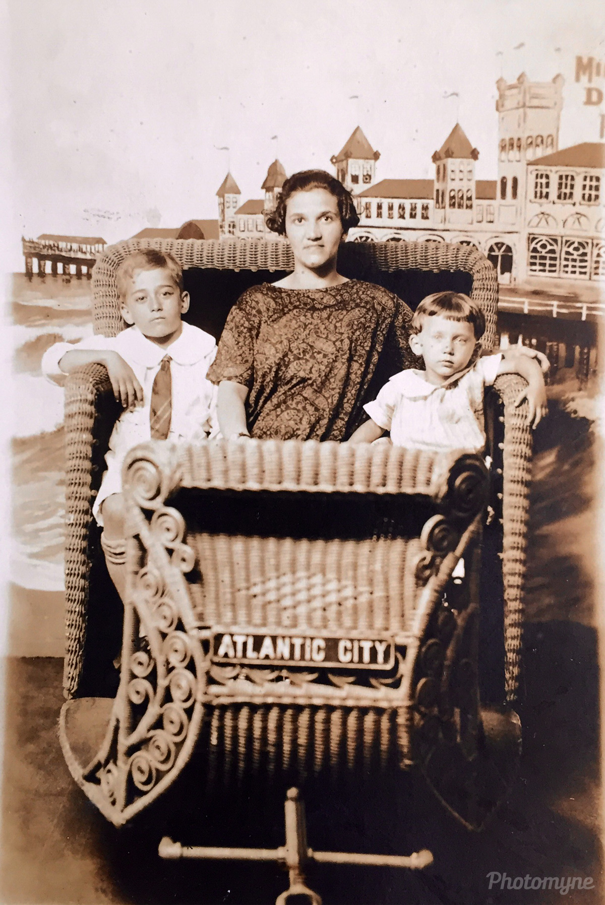 My great grandmother with my grandmother and great uncle, Atlantic City, New Jersey, United States, 1925