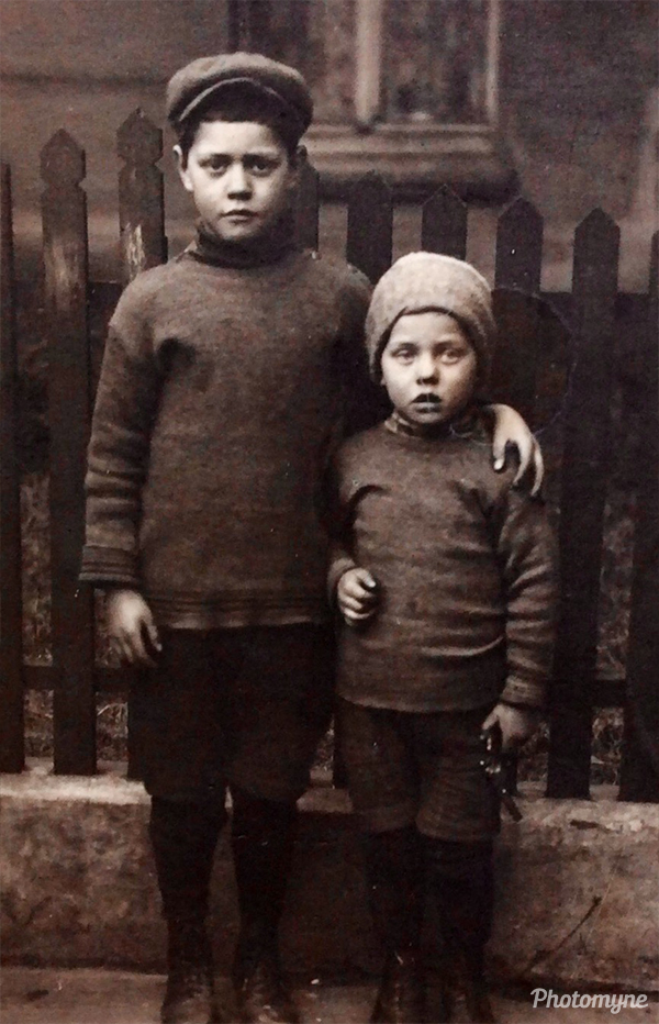 My dad and his little brother... Germany 1915