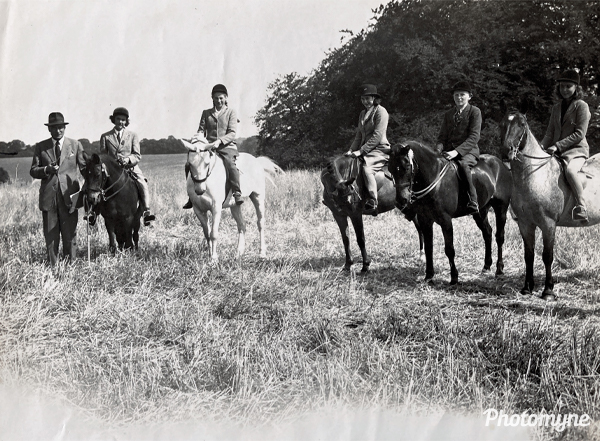 Pony Club Camp. The best turned out to be Pony and Rider. United Kingdom 1949