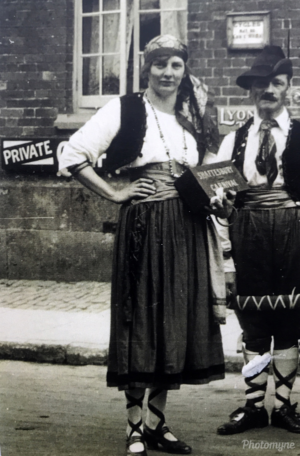 My grandmother raising money for Shaftesbury festival. GB 1930
