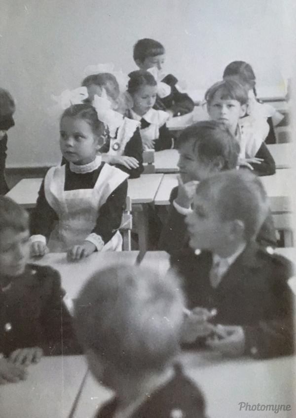 Первоклашки школы номер 20 пос.Сокол Магаданской обл (First-graders of school number 20 in the village of Sokol, Magadan Region). Russia 1976