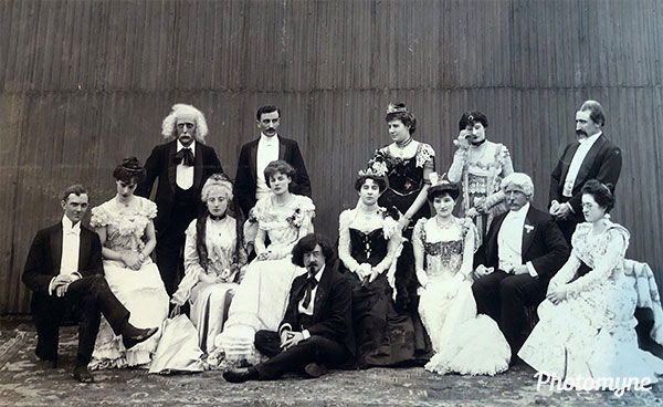 Amateur Dramatic production of Boredom at Hereford. GB 1901