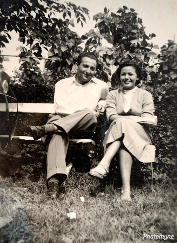 My grandparents' first photo together when they first met. Belgium 1951