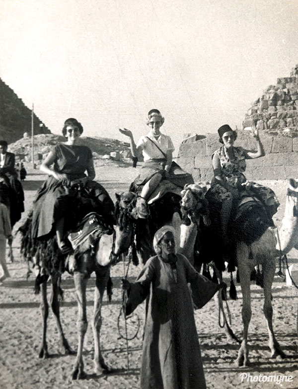The Pyramids. Egypt 1956