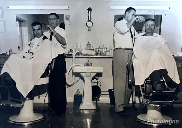 Pete the Barber, Saint Boniface. Canada 1955