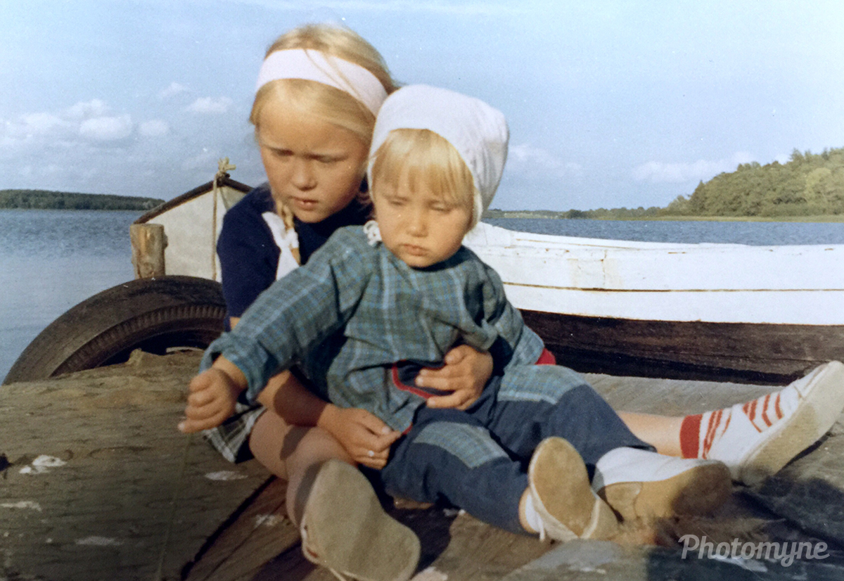 Me and my sister at Roskilde fjord Kattinge Vig summer. Roksilde, Denmark 1965