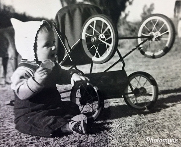 Wheels will keep me happy dad... South Africa 1953
