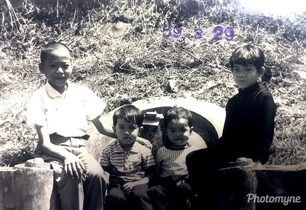 表妹美智一家人 (Cousin Meizhi family). Taiwan 1960