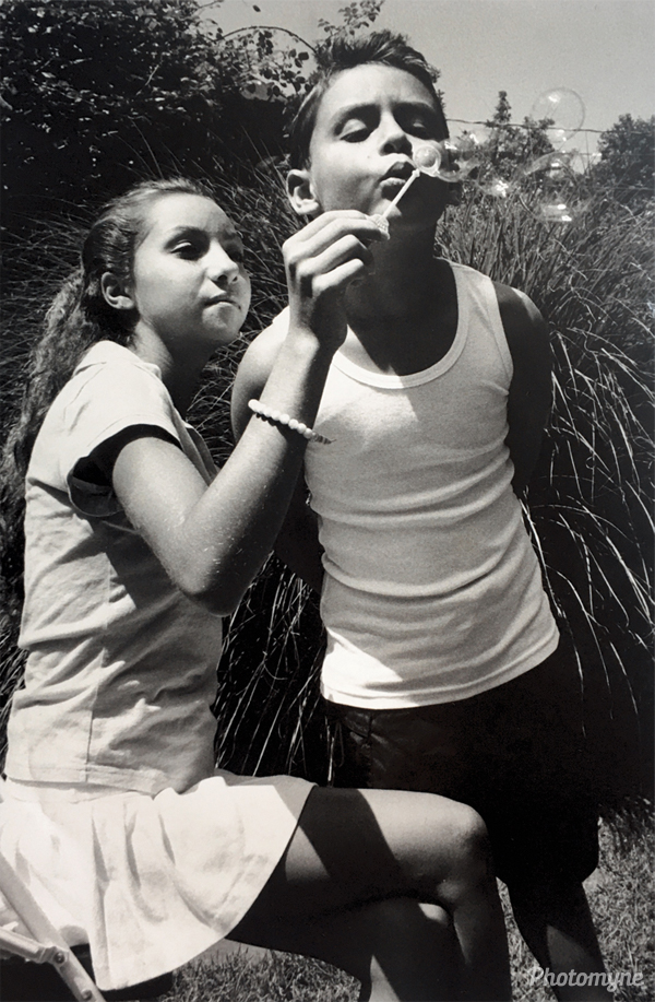 Lauren age 14 years and Blake age 9 years. Photographed by their uncle Vittorio at mine and Douglas vacation home in East Hampton NY. NY, USA (year unknown)