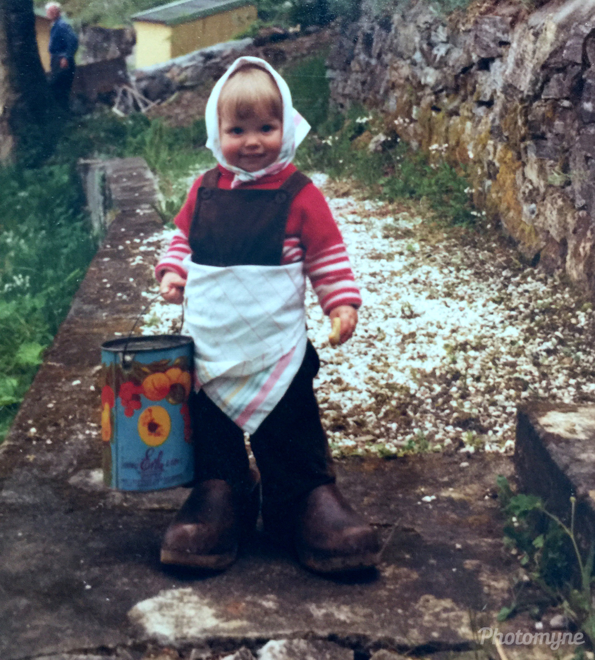 My child in 1978 nearby Ålesund, Norway, 1978