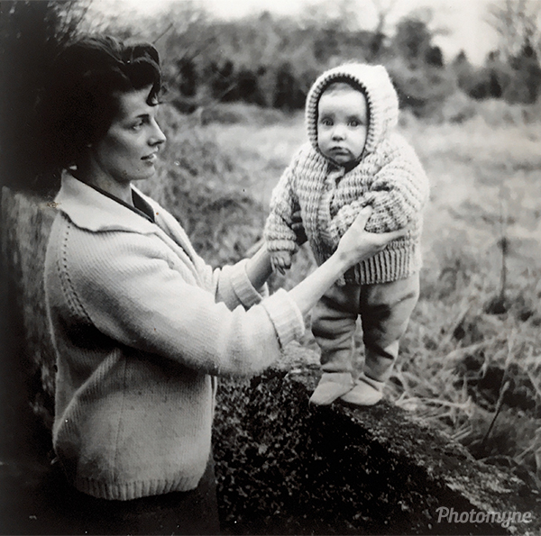 My mother as a baby with my grandmother. Ireland 1965
