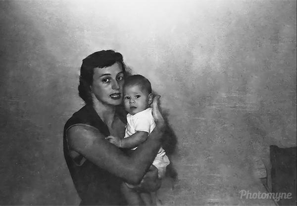 Jane and Robbie Bacon. USA 1953