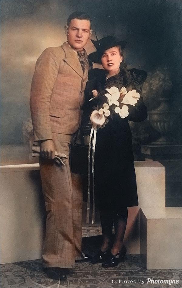 My grandparents wedding day. Belgium 1944