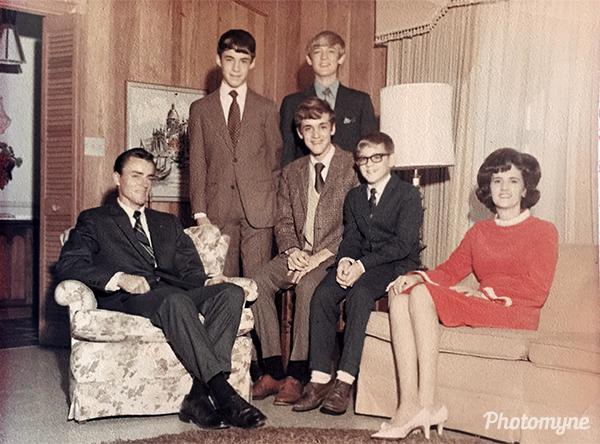 Coble Family. NC, USA 1970