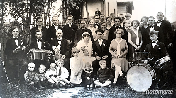 Hochzeit Agnes Kryszewski (Wedding of Hochzeit Agnes Kryszewski). Poland 1930