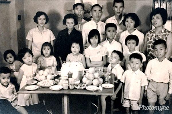 A big birthday party. Hong Kong 1962